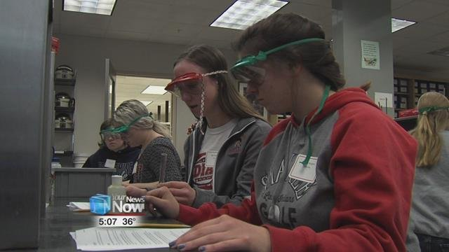 The program is filled with hands on activities in various STEM fields, aimed at encouraging more young women to pursue a career in the science field.