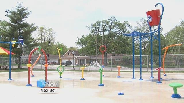One of the newest features to the pool is the splash pad - this is the first full year that the pad is running.