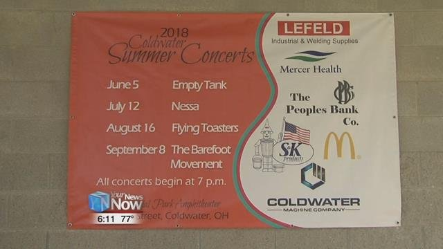 This is the first year for the summer concert series in Coldwater.