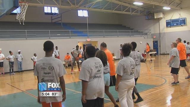 The basketball game was organized by a few Lima city council members and invited the Lima Police Department to play a few pick up games with the kids at the Bradfield Community Center.