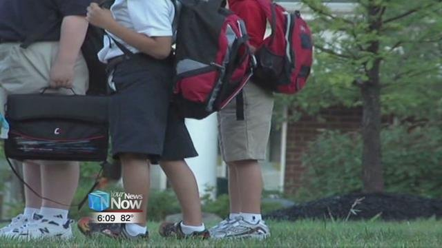Experts from the Mayo Clinic say that backpacks should weigh no more than 15% of a child's body weight.