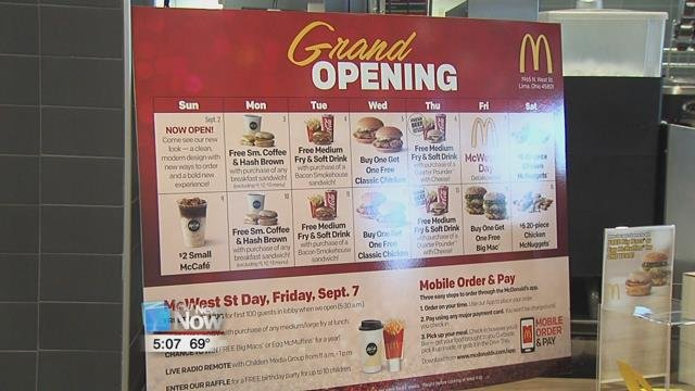 The renovations have been completed at the Jerry Lewis McDonald's on N. West Street.
