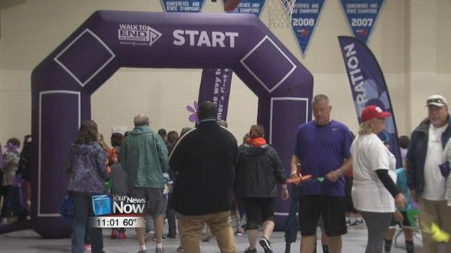 The rain did not stop over 300 people from joining the Walk to End Alzheimer's today at the Ohio State Lima Campus.