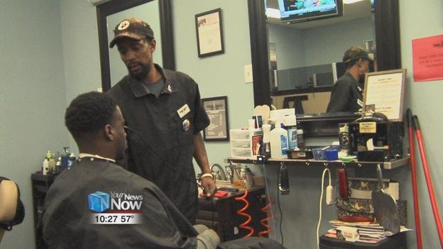 Freshnfaded in downtown Lima offered free haircuts to veterans, police officers, firefighters, and EMTs.