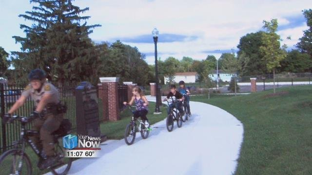 The Lima Rangers want to show that the bike paths are safe and encourage exercise and good health.