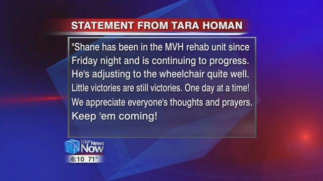 Shane's mother Tara also released a statement on Shane's recovery.