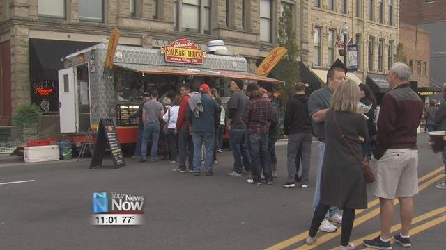 Parts of Main St. were closed down to accommodate some of the best German food vendors from around the state.