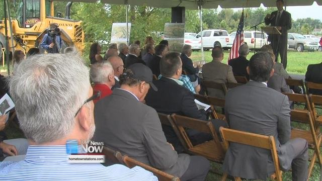 A groundbreaking ceremony held just north of the Norfolk Southern Railroad Bridge off of Cory St. signaled the start of the first phase of a project to help reduce flooding in the area.