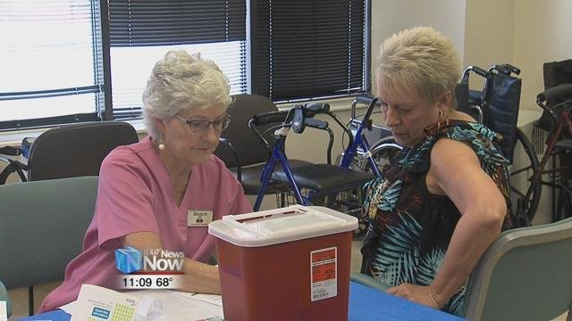 Different community organizations came together to give free health checks on things like blood pressure and balance.