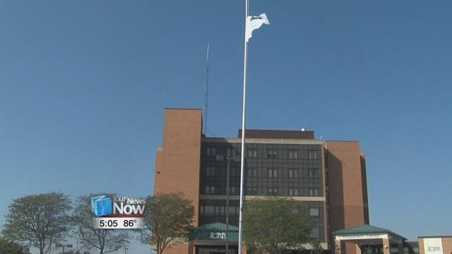 Their goal is to raise a donate life flag in all 88 Ohio counties, and this is the first time one has been raised in Auglaize County.