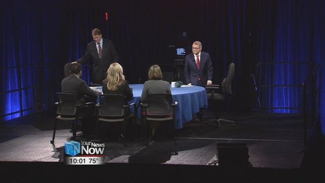 Democrat Richard Cordray and Republican Mike DeWine took questions from a panel of media members; and heard questions from Ohioans that were sent into the Ohio Debate Commission.