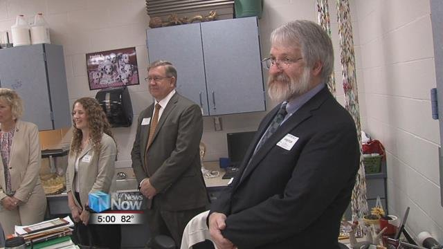 The State Superintendent of Public Instruction, Paolo DeMaria, visited Lima South Science and Technology Magnet School.