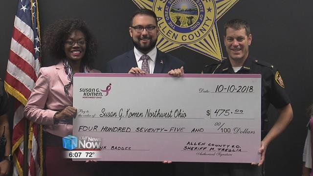 The Allen County Sheriff's Office was able to raise $475for the Susan G. Komen Foundation, and it was done with special pink badges.
