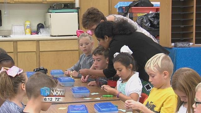 Students at Shawnee Elmwood Elementary School started National Chemistry Week a little early this year.