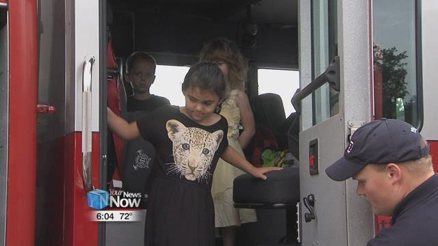"""Wednesday morning, crews were at Elida Elementary School holding their annual """"Touch a Truck"""" event."""