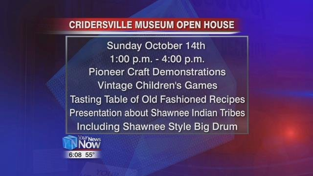 There will be pioneer craft demonstrations, vintage children's games, a tasting table of old-fashioned recipe samples, and tours of the museum.