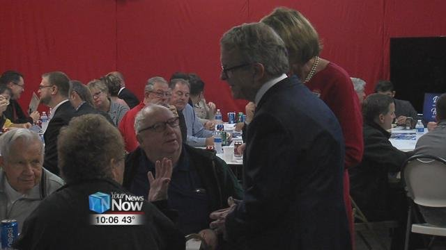 DeWine spoke to Allen County Republicans abouthis stance on issues from job growth and regulations to his plans to put an educational focus on early childhood development.