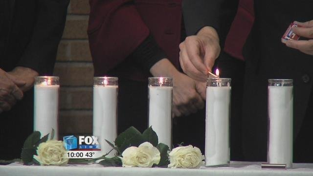 Clergy from different churches lit candles and laid down roses to remember the 11 worshippers at the Tree of Life Synagogue that were killed by a gunman last Saturday.