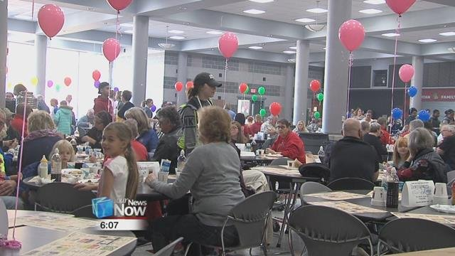 From 6 a.m. to 2 p.m., the club served thousands of community members, who were there to support the community, and also eat some freshly made pancakes.