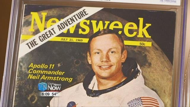 She also nabbed the July 21, 1969 issue of Newsweek sent to Armstrong with himself on the cover for $11,875.