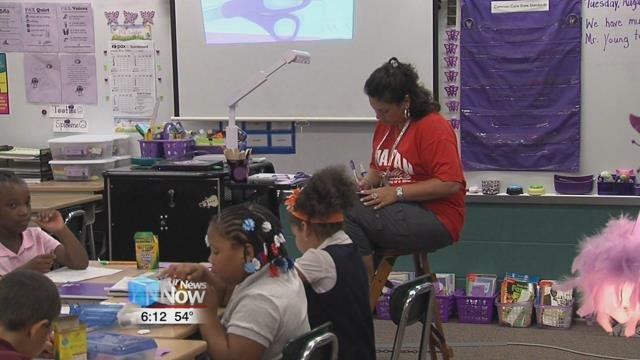 The Allen County Retired Teachers Association helps out current teachers with volunteering time for tutoring as well as giving out $200 dollar grants for teachers to use in the classroom.