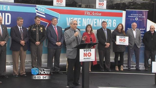 """""""Don't let the commercials fool you."""" That was one of the messages at a """"Go Vote"""" bus tour stopping in Allen County today."""