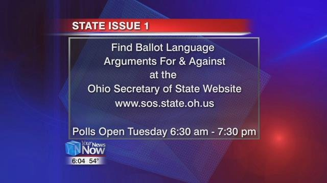 You can find the ballot language for issue one on the Ohio Secretary of State's website.