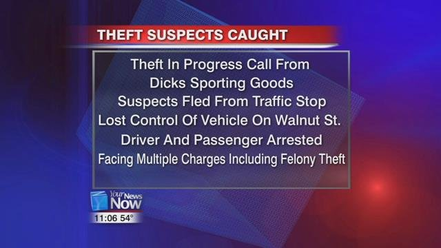 Monday night, officers in Findlay responded to a theft in-progress at Dick's Sporting Goods.