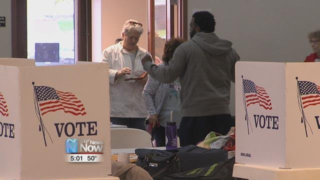 Polls opened at 6:30 this morning with a steady stream of voters casting their ballot.