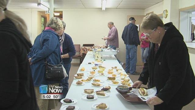 The church held their annual Election Day lunchwith people paying for the meal with donations.