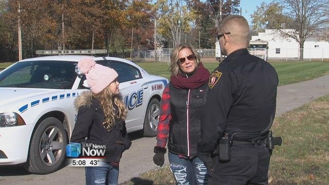 Adyson Krouse was the grand prize winner of a fundraiser held a couple of weeks ago in support of the future K-9 unit officer for the Wapakoneta Police Department.