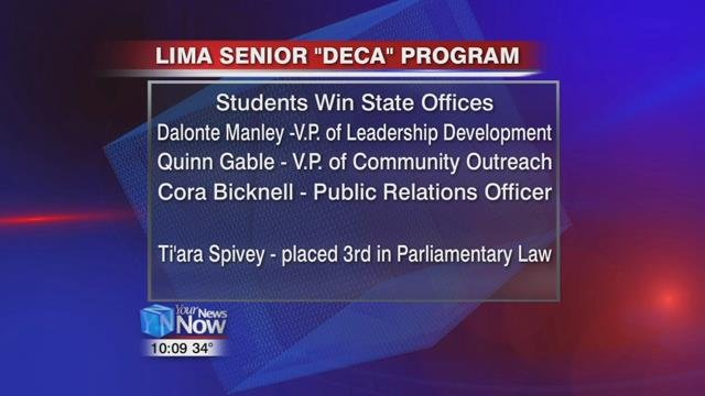 Each of these students just competed in the Ohio DECAcompetition and will now head to nationals in Atlanta representing not only Lima Senior but Ohio as well in their new capacity as state officers.