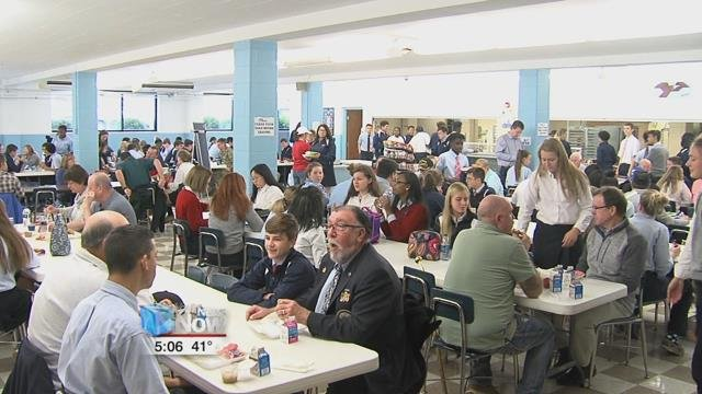 Veterans and active service members were invited to the school for mass this morning followed by a complimentary lunch.