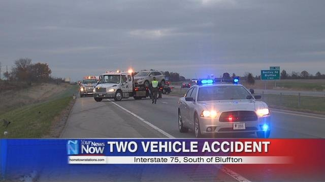 Troopers say a silver car was stopped in the southbound lane when it was rear-ended by a red SUV.