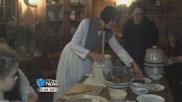 Members of the Swiss Community HistoricalSociety demonstrated what the area's Swiss ancestors would have been doing around this time of year.