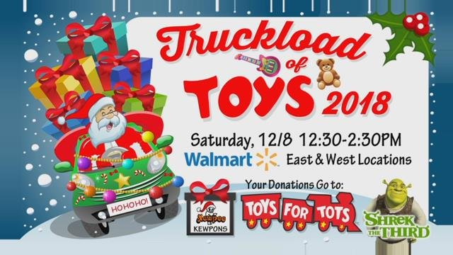 The toys collected will be given to the Salvation Army as part of the Toys for Tots campaign.