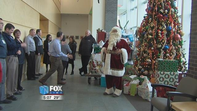 "For more than 20 years Lima Memorial Health System has partnered with Area Agency on Aging 3 to buy gifts for its Senior ""Angels"", senior citizens who are in need."