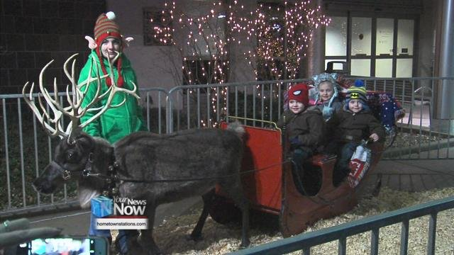 It was a night of holiday cheer at Mercy Health - St. Rita's Medical Center as families came out for the 2018Holiday Street Fair.