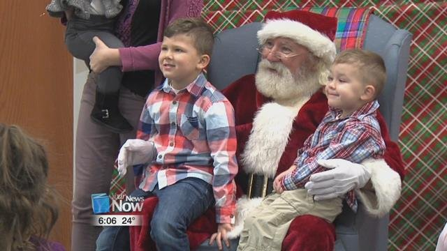 The kids had a great time talking to Santa and putting in a little plug for what they what this Christmas.