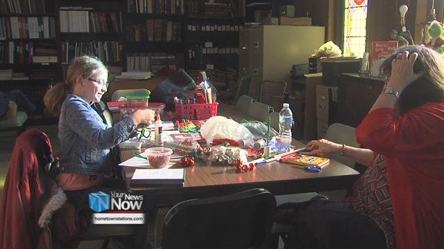 The museum hosted a special Crafty Christmas open house featuring antique Christmas decorations and vintage crafts on display.