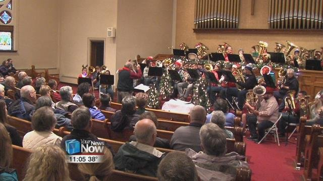 The concert features, of course, the Tuba, but also baritones and euphoniums, playing some holiday classics and some pieces of music to feature their instruments.